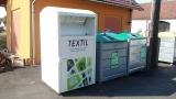 instalace kontejneru na textil Vlčeves